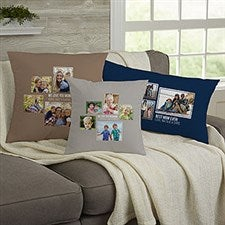 Personalized 5 Photo Collage Throw Pillows For Her - 21456