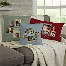 Personalized 6 Photo Collage Throw Pillows For Her - 21457