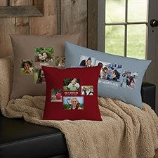 Personalized 4 Photo Collage Throw Pillows For Dad - 21461