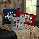Personalized 6 Photo Collage Throw Pillows For Dad - 21463