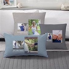 Wedding Photo Collage - Custom 2 Photo Throw Pillows - 21465