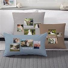 Wedding Photo Collage - Custom 4 Photo Throw Pillows - 21467