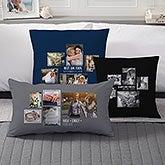 Wedding Photo Collage - Custom 5 Photo Throw Pillows - 21468