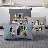 Wedding Photo Collage - Custom 6 Photo Throw Pillows - 21469