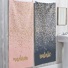 Personalized Bath Towels - Sparkling Name - 21472