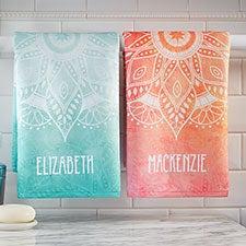 Personalized Hand Towels - Mandala - 21481