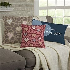 Loving Hearts Personalized Throw Pillows - 21484