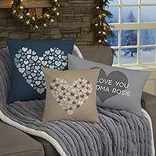 Heart of Hearts Personalized Throw Pillows - 21485