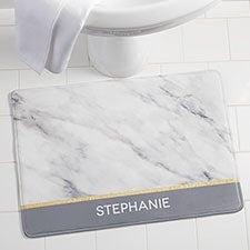 Personalized Foam Bath Mat - Marble Chic - 21489