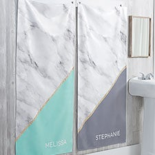 Personalized Marble Print Bath Towels - 21490