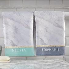 Personalized Hand Towels - Marble Chic - 21491