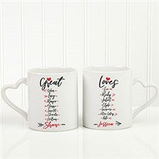 Great Loves Personalized Romantic Coffee Mug Set - 21493