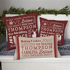 Personalized Throw Pillows - Holiday Traditions - 21494