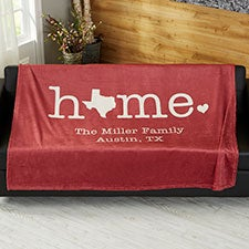 Home State Personalized Blankets - 21528