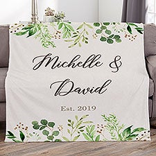 Personalized Couple Blanket - Laurels of Love - 21532