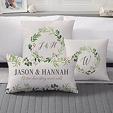 Laurels of Love Personalized Throw Pillows - 21533