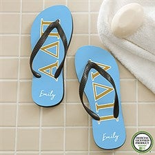 b2ebb57349101 Alpha Delta Pi Sorority Personalized Flip Flops - 21561