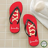 Chi Omega Sorority Personalized Flip Flops - 21562