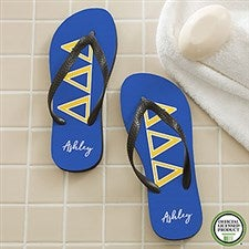 Tri Delta Sorority Personalized Flip Flops - 21563
