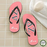 Delta Zeta Sorority Personalized Flip Flops - 21565