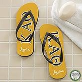 Kappa Alpha Theta Sorority Personalized Flip Flops - 21567