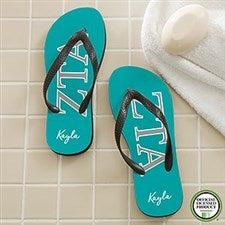 Zeta Tau Alpha Sorority Personalized Flip Flops - 21571