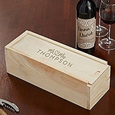 Personalized Wedding Wine Box - Infinite Love - 21572