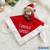 Santa Bear Personalized Baby Lovey - 21573