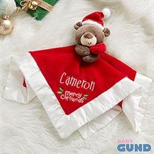 Santa Bear Personalized Baby Lovey - 21573