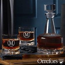 Engraved Whiskey Decanter Set - Orrefors - 21574