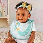 Personalized Baby Bib & Headband - Enchanted Mermaid - 21586