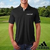 Custom Embroidered Black Adidas Polo Shirt - 21589