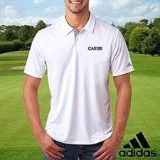 Custom Embroidered White Adidas Polo Shirt - 21590