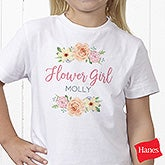Personalized Flower Girl Shirts - Floral Wreath - 21596