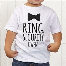 Personalized Ring Bearer Shirt - Bow Tie - 21597