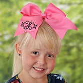 Custom Embroidered Monogrammed Hair Bows - 21598