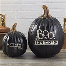BOO! Personalized Pumpkins - Reusable Halloween Decoration - 21607