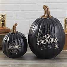 Personalized Pumpkins - Spiders & Spiderwebs - 21608