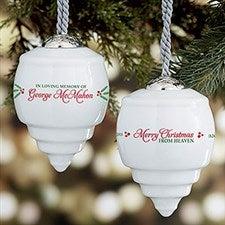 Memorial Personalized Deluxe Drop Ornaments - 21617