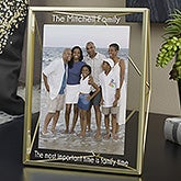 Gold Prisma Engraved Glass Photo Frame - 21618