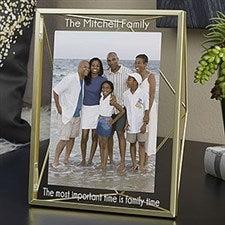 Gold Prisma Engraved Glass Photo Frame - 21618
