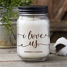 I Love Us Personalized Farmhouse Candle Jar - 21627