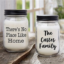 Personalized Mason Jar Candles - Add Any Text - 21629