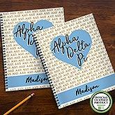 Alpha Delta Pi Sorority Personalized Notebooks - 21636