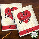 Chi Omega Sorority Personalized Notebooks - 21637