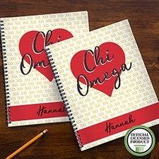 Chi Omega Sorority Personalized Notebooks - 21637