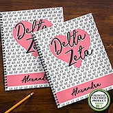 Delta Zeta Sorority Personalized Notebooks - 21640