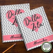 Delta Zeta Sorority Personalized Notebooks - 21640