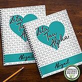 Zeta Tau Alpha Sorority Personalized Notebooks - 21646