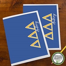 Tri Delta Sorority Personalized Folders - 21649